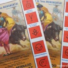 Tauromaquia: 2 DÍPTICOS IGUALES PLAZA DE TOROS MONUMENTAL DE BARCELONA 1973 / CURRILLO - JOAQUIN BERNADO - DAMA... Lote 269250548