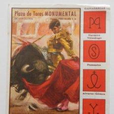 Tauromaquia: DÍPTICO PLAZA DE TOROS MONUMENTAL DE BARCELONA 1973 / JOSÉ RUIZ CALATRAVEÑO - AGAPITO SANCHEZ BEJA... Lote 269253503