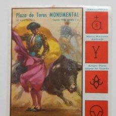 Tauromaquia: DÍPTICO PLAZA DE TOROS MONUMENTAL DE BARCELONA 1973 / DAMASO GONZALEZ - NIÑO DE LA CAPEA - PACO BA... Lote 269258013