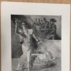 Tauromaquia: AGUAFUERTE DEL ARTISTA NAVARRO FERNANDO BEORLEGUI. TAUROMAGIA VICTORIA. EDICION LIMITADA. Lote 269838278