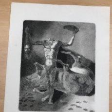 Tauromaquia: AGUAFUERTE DEL ARTISTA NAVARRO FERNANDO BEORLEGUI. TAUROMAGIA TROFEO. EDICION LIMITADA. Lote 269838808