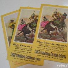 Tauromaquia: TOROS MUNDO TAURINO PLAZA DE TOROS DE ALICANTE 3 PROGRAMAS ... Lote 270200323