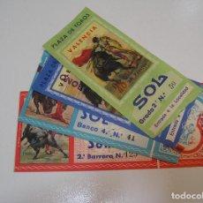 Tauromaquia: TOROS MUNDO TAURINO LOTE 4 ENTRADAS TOROS PLAZA DE TOROS DE VALENCIA FERIA DE JULIO 1971. Lote 270205108