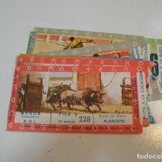 Tauromaquia: TOROS MUNDO TAURINO LOTE 12 ENTRADAS TOROS PLAZA DE TOROS DE ALBACETE FERIA 1971. Lote 270210823