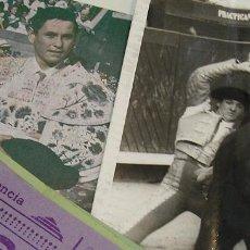 Tauromaquia: TOROS MUNDO TAURINO LOTE ENTRADAS FOTO DEL SORO LIBRITOS TOREROS. Lote 270211948