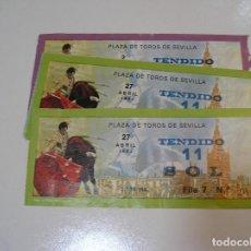 Tauromaquia: TOROS MUNDO TAURINO LOTE 6 ENTRADAS TOROS PLAZA DE TOROS DE SEVILLA FERIA ABRIL 1982. Lote 270212443