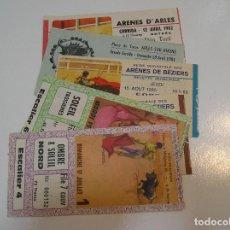 Tauromaquia: TOROS MUNDO TAURINO LOTE ENTRADAS PLAZAS FRANCESAS ,ENTRADA 18 JULIO DE 1983 CON AUTOGRAFO DEL YIYO. Lote 270213708