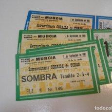 Tauromaquia: TOROS MUNDO TAURINO LOTE 8 ENTRADAS TOROS PLAZA DE TOROS DE ALBACETE FERIA 1981 - 1983. Lote 270214273