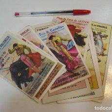 Tauromaquia: TOROS MUNDO TAURINO LOTE 9 PROGRAMAS PLAZA DE TOROS DE VALENCIA XATIVA JEREZ......... Lote 270225363