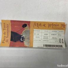 Tauromaquia: ENTRADA DE TOROS. PLAZA DE TOROS DE SANTANDER. FERIA DE SANTIAGO 1998. VER FOTOS. Lote 271539988