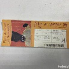 Tauromaquia: ENTRADA DE TOROS. PLAZA DE TOROS DE SANTANDER. FERIA DE SANTIAGO 1998. VER FOTOS. Lote 271540328