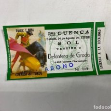 Tauromaquia: ENTRADA DE TOROS. PLAZA DE TOROS DE CUENCA. AGOSTO DE 1996.. Lote 271542713