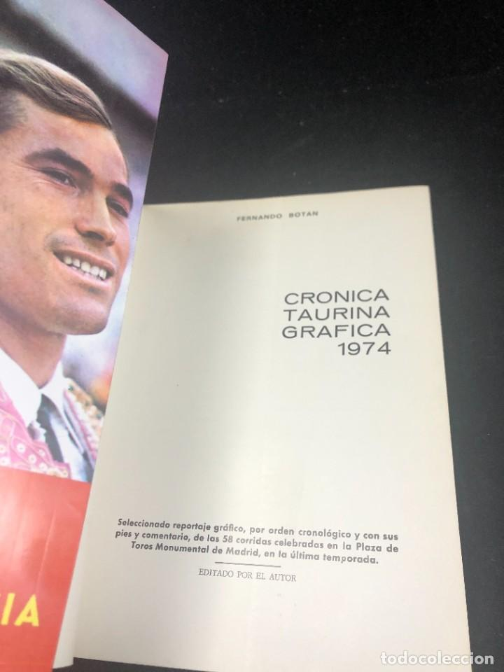 Tauromaquia: CRONICA TAURINA GRAFICA. 1974. FERNANDO BOTÁN. 440 FOTOGRAFÍAS. VOLUMEN VII - Foto 3 - 271780583