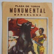 Tauromaquia: PLAZA TOROS MONUMENTAL BARCELONA 1968: CORRIDA DE TOROS EN HONOR DE LOS SRES. HIJOS DE PABLO ROMERO. Lote 273180313
