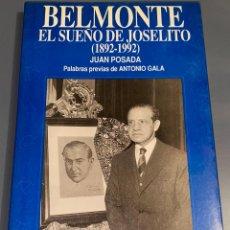 Tauromaquia: BELMONTE - EL SUEÑO DE JOSELITO - COLECCIÓN LA TAUROMAQUIA Nº 44 - ESPASA CALPE ¡BUEN ESTADO!. Lote 276160018
