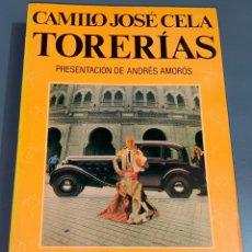 Tauromaquia: TORERÍAS - CAMILO JOSE CELA - COLECCIÓN LA TAUROMAQUIA Nº 34 - ESPASA CALPE ¡BUEN ESTADO!. Lote 276160548
