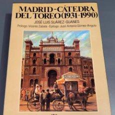 Tauromaquia: MADRID - CÁTEDRA DEL TOREO - COLECCIÓN LA TAUROMAQUIA Nº 28 - ESPASA CALPE ¡BUEN ESTADO!. Lote 276161003