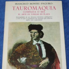 Tauromaquia: TAUROMAQUIA COMPLETA OSEA EL ARTE DE TOREAR EN PLAZA - FRANCISCO MONTES - PAQUIRO - TURNER (1983). Lote 276580313