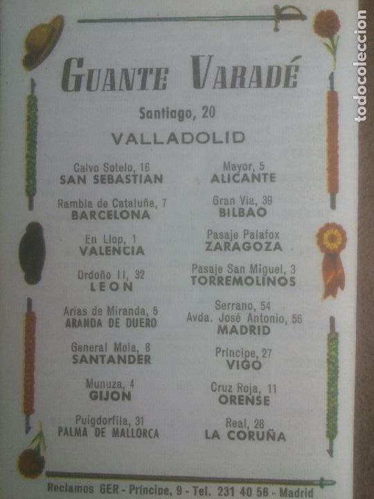 Tauromaquia: RARO LIBRETO GALERIA TAURINA FERIA VALLADOLID 1969.GUANTE VARADE - Foto 2 - 277304883