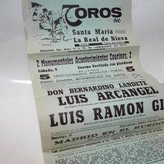 Tauromaquia: 1972. SANTA MARÍA LA REAL DE NIEVA (SEGOVIA). CARTEL CORRIDA DE TOROS.. Lote 277538483