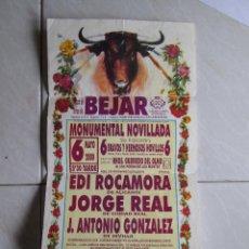 Tauromaquia: CARTEL CORRIDA EN PLAZA TOROS DE BEJAR - SALAMANCA - 43X21 -. Lote 278355503