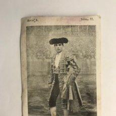 Tauromaquia: TOREROS, RAFAEL MOLINA, LAGARTIJO CHICO, SERIE A, NO.31, CROMO POSTAL, (H.1900?). Lote 278532103