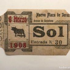 Tauromaquia: TAUROMAQUIA BARCELONA, ENTRADA PLAZA DE TOROS.., ARENAS DE BARCELONA (A.1908). Lote 278534603