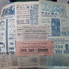 Tauromaquia: 7 CARTELES DE TOROS+ - PALMA DE MALLORCA AÑOS 60. + PUBLICIDAD TAURINA DE MÁS DE 100 AÑOS. Lote 285566478