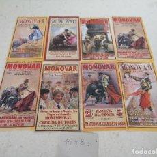 Tauromachie: LOTE DE 8 PROGRAMAS O FOLLETOS DE MANO DE TOROS, DE MONOVAR, VARIOS AÑOS, UNOS 15 X 8 CMS.. Lote 286810678
