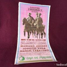 Tauromachie: CARTEL DE TOROS 89 X 47 CMS., PLAZA DE TOROS DE MADRID, 1990, GRÁFICAS GARME. Lote 286928148