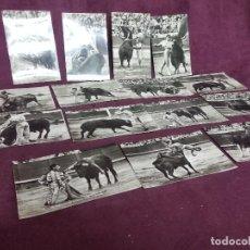 Tauromachie: LOTE CON 15 POSTALES CON ESCENAS DE CORRIDAS DE TOREROS, MANOLETE, LITRI Y OTROS, AÑOS 40´S,. Lote 287699173
