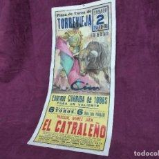Tauromachie: CARTEL DE TOROS, TORREVIEJA, 1988, UNOS 70 X 33 CMS.. Lote 287729813