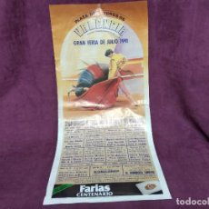Tauromachie: CARTEL DE TOROS, VALENCIA, 1991, UNOS 92 X 42 CMS.. Lote 287730398