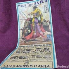 Tauromachie: CARTEL DE TOROS, ÁVILA, 1990, UNOS 100 X 47 CMS.. Lote 287733393