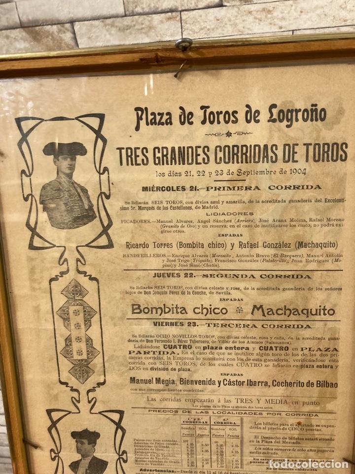 Tauromaquia: Magnifico cartel antiguo de toros - Foto 7 - 288053533