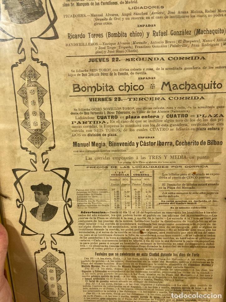 Tauromaquia: Magnifico cartel antiguo de toros - Foto 8 - 288053533