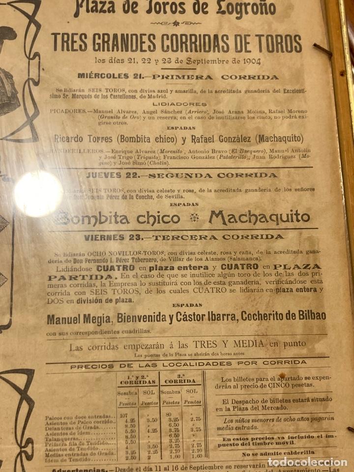Tauromaquia: Magnifico cartel antiguo de toros - Foto 11 - 288053533