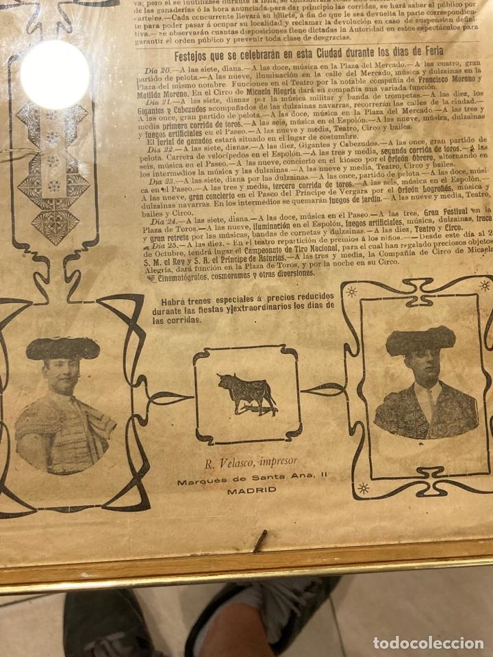 Tauromaquia: Magnifico cartel antiguo de toros - Foto 13 - 288053533