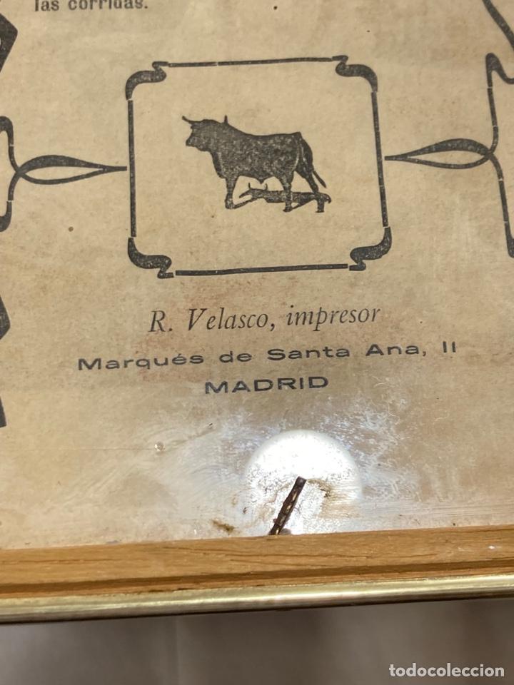 Tauromaquia: Magnifico cartel antiguo de toros - Foto 14 - 288053533