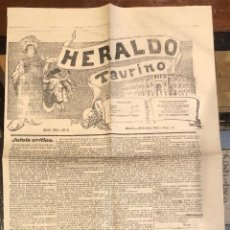Tauromaquia: PERIODICO DE TOROS HERALDO TAURINO. Nº 42. MADRID, 22 DE JULIO 1900. Lote 289552178