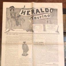 Tauromaquia: PERIODICO DE TOROS HERALDO TAURINO. Nº 14. MADRID, 1 DE ABRIL 1900. Lote 289552408