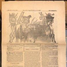 Tauromaquia: PERIODICO DE TOROS EL TIO JINDAMA. Nº 380. 18 SETIEMBRE 1887. Lote 289552768