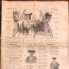 Tauromaquia: PERIODICO DE TOROS EL TIO JINDAMA. Nº 956. MADRID, MAYO DE 1899. Lote 289553013