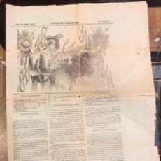 Tauromaquia: PERIODICO DE TOROS EL TIO JINDAMA. Nº 809. MADRID, JUNIO DE 1893. Lote 289553333
