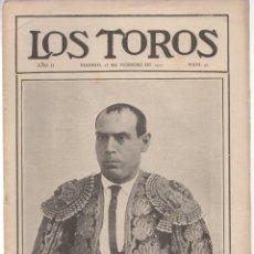 Tauromaquia: REVISTA TAURINA LOS TOROS. Nº 42. MADRID, 25 DE FEBRERO DE 1910. Lote 289557228
