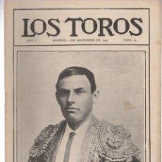 Tauromaquia: REVISTA TAURINA LOS TOROS. Nº 30. MADRID, 2 DE DICIEMBRE DE 1909. Lote 289559858