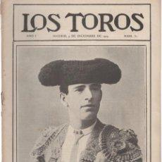 Tauromaquia: REVISTA TAURINA LOS TOROS. Nº 31. MADRID, 9 DE DICIEMBRE DE 1909. Lote 289560273