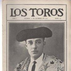 Tauromaquia: REVISTA TAURINA LOS TOROS. Nº 24. MADRID, 21 DE OCTUBRE DE 1909. Lote 289561103