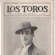 Tauromaquia: REVISTA TAURINA LOS TOROS. Nº 23. MADRID, 14 DE OCTUBRE DE 1909. Lote 289561468