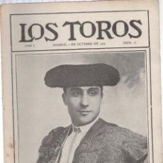 Tauromaquia: REVISTA TAURINA LOS TOROS. Nº 22. MADRID, 7 DE OCTUBRE DE 1909. Lote 289561898